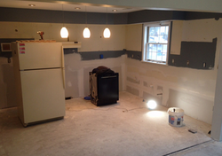 Kitchen rebuild after water damage in Scotia, NY