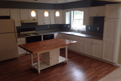 Completed rebuild of the water damage kitchen in Scotia, NY