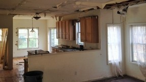 Water damage in bank foreclosed home in Glenville, NY