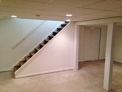 Finished rebuild of a water damaged basement in Clifton Park, NY